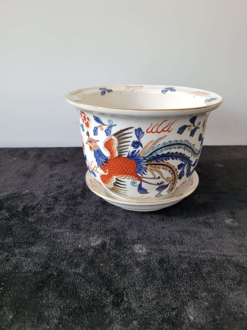 Lot # 181 Maas Brothers Hand Painted Planter - Made in Macau