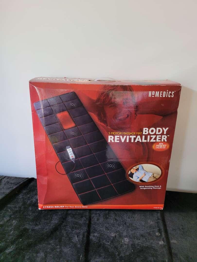 Lot # 187 Homedics body revitlalizer massage mat with heat in box
