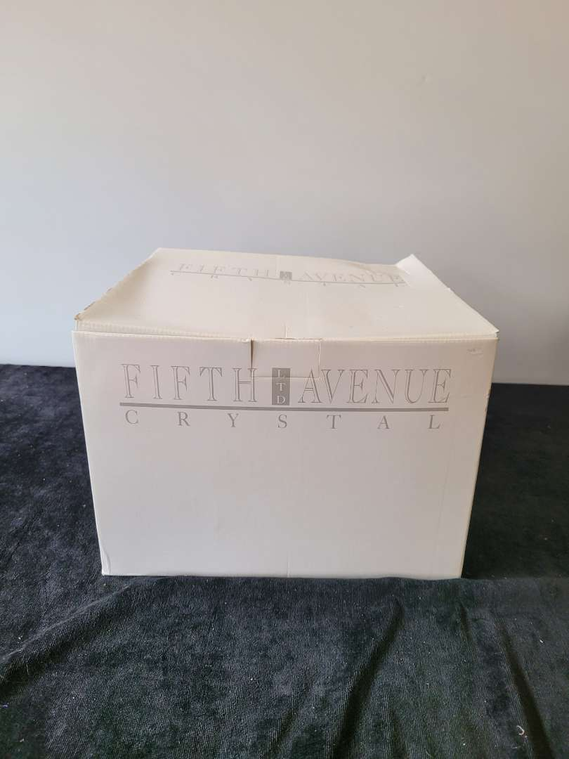 Lot # 236 Fifth Avenue Crystal Cake Stand, Portico Design - NIB
