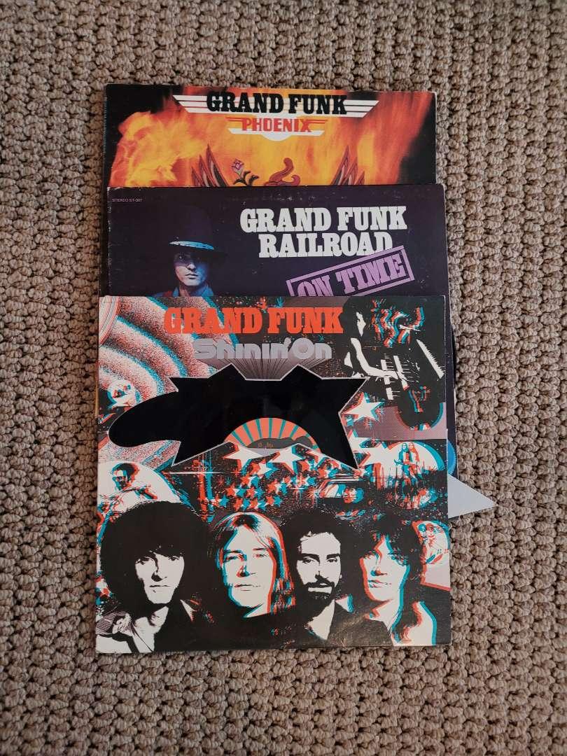 Lot # 246 (3) Vintage Grand Funk Railroad Albums