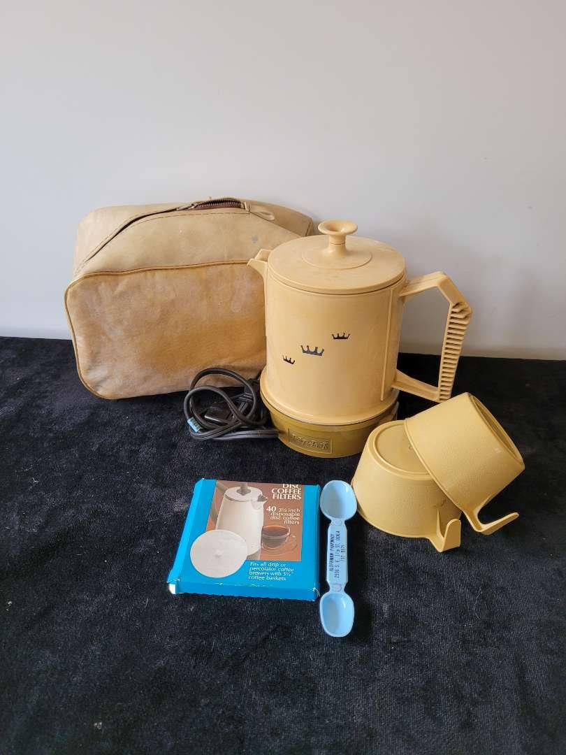 Lot # 269 Vintage Portable Coffee Pot
