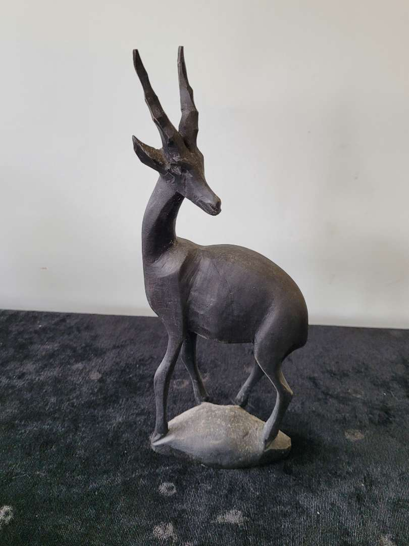 Lot # 286 Hand Carved Wood Antelope