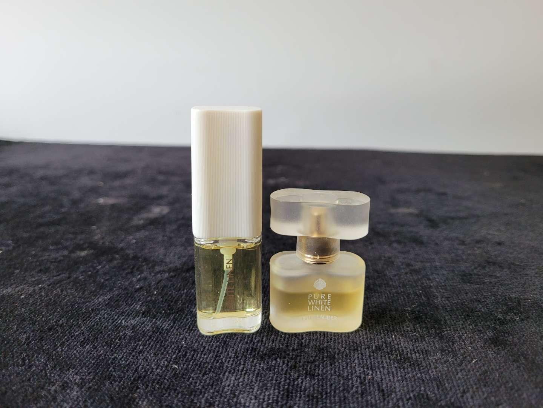 Lot # 296 (2) Small Estee Lauder White Linen Perfumes