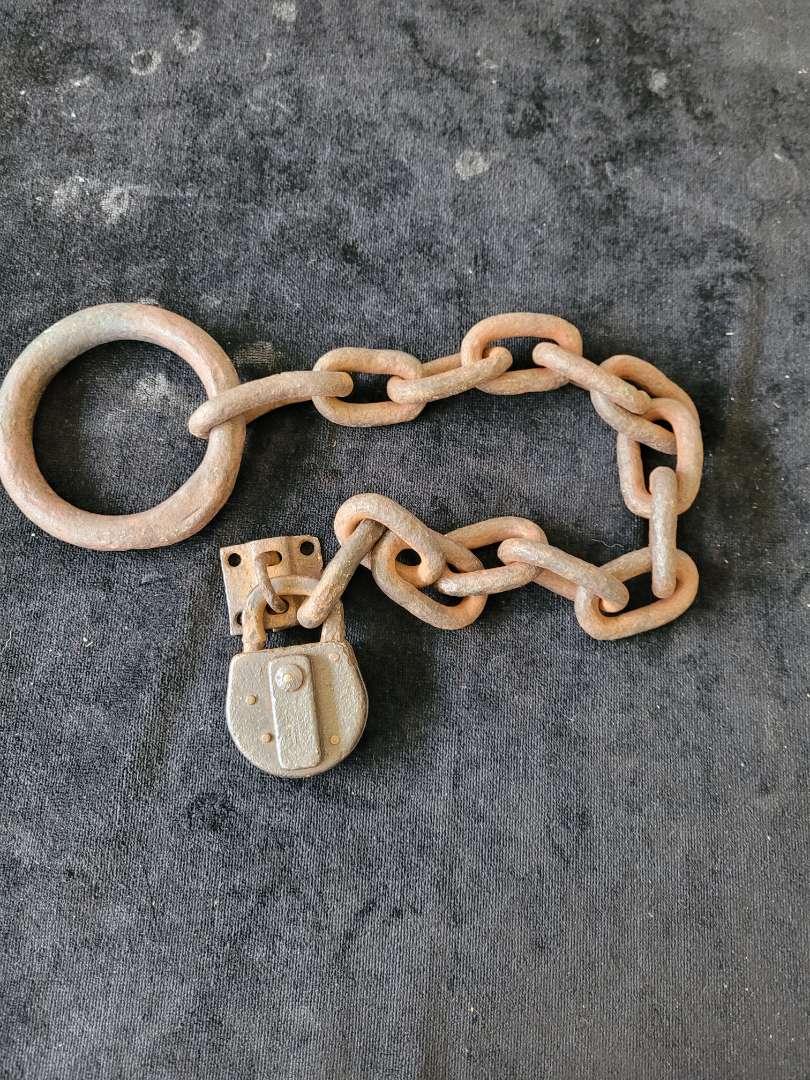 Lot # 303 Antique Lock & Chain