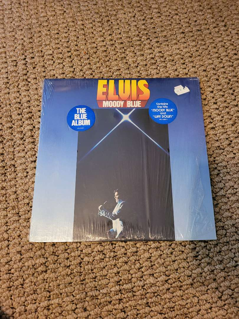 Lot # 320 Vtg Elvis Moody Blue Album