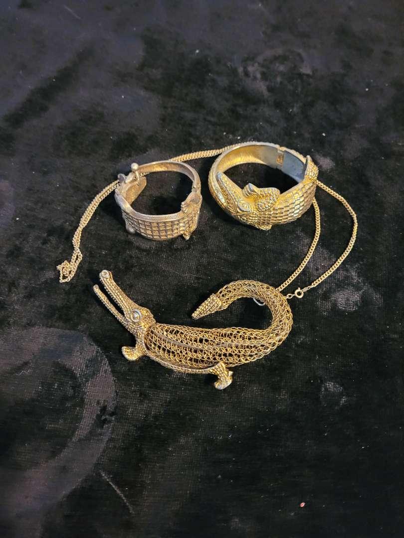 Lot # 332 (2) Gator Bracelets & Necklace