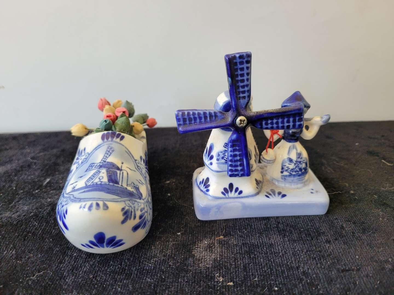 Lot # 348 Holland Made Shoe & Windmill