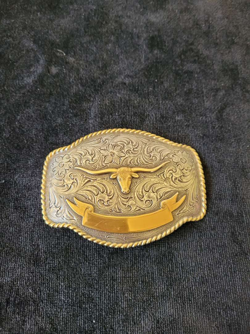 Lot # 352 Nocona Long Horn Belt Buckle