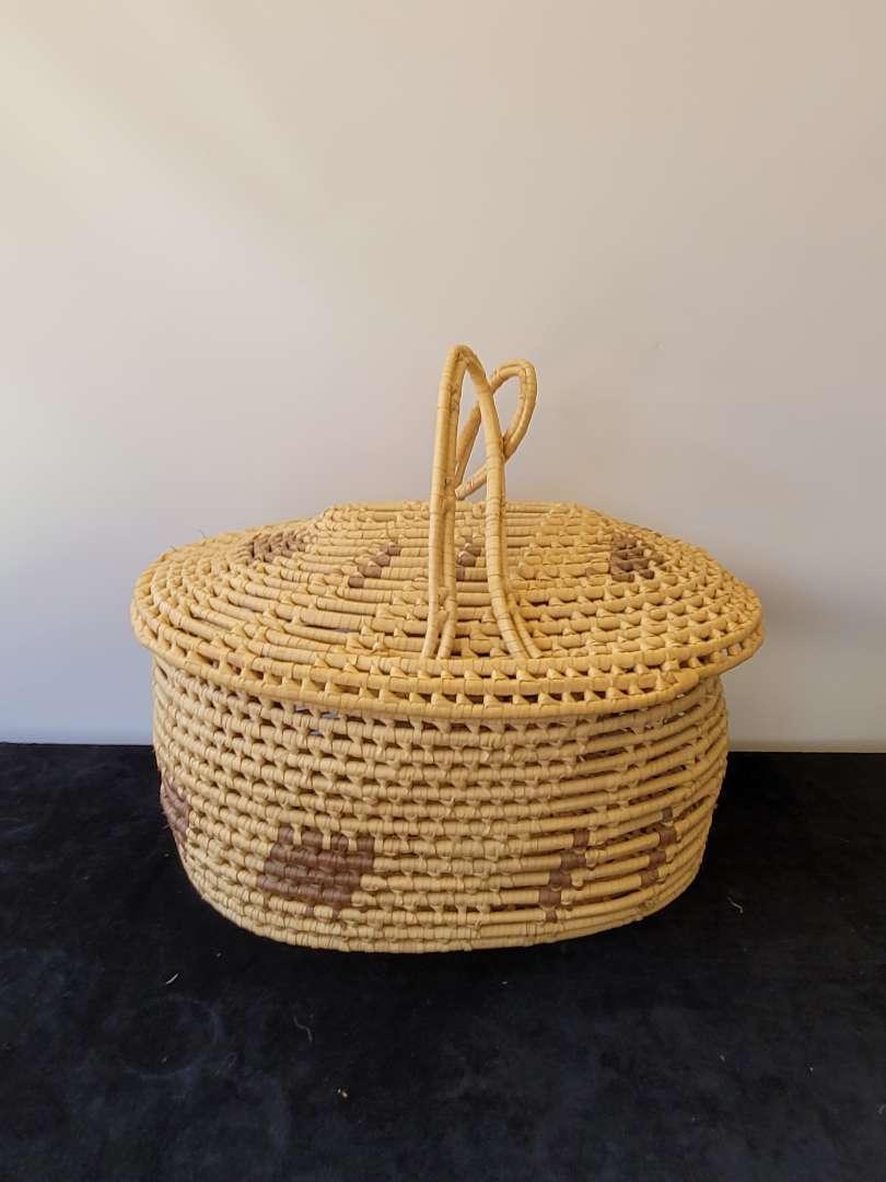 Lot # 360 Beautiful Large Woven Basket w/ Handles