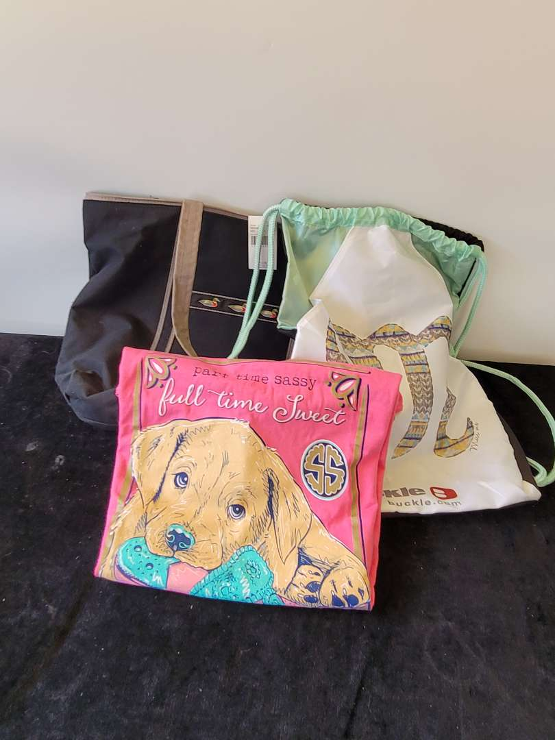 Lot # 361 Simply Southern Shirt, Buckle Miss Me Bag & Beach Bag- All New