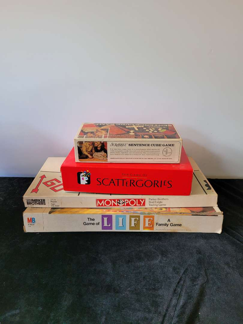 Lot # 367 (4) Vintage Family Games