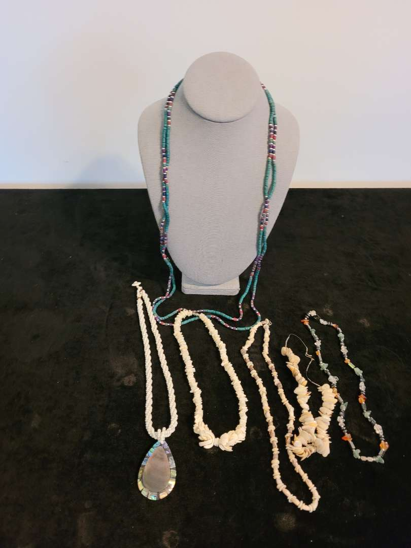 Lot # 377 (6) Shell & Beaded Necklaces