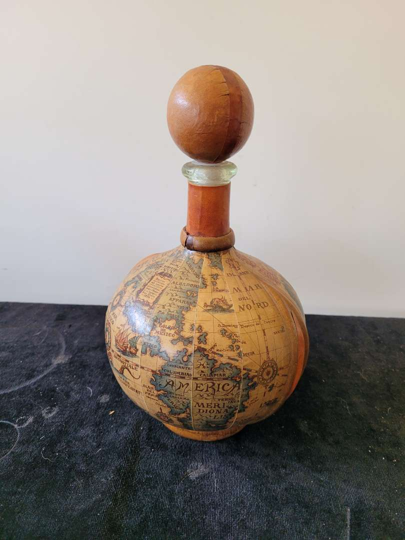 Lot # 429 Leather Wrapped Decanter - Made in Italy