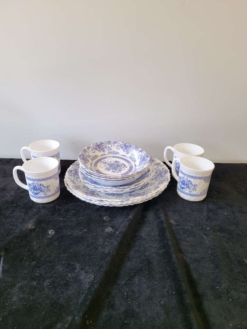 Lot # 446 Arcopal Dish Set for 4 - Total of 16 Pieces