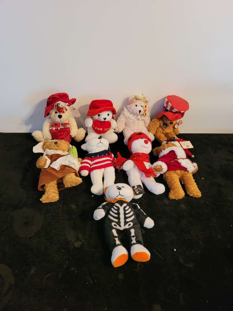 Lot # 469 (9) March of Dimes Stuffed Bears w/ Tags