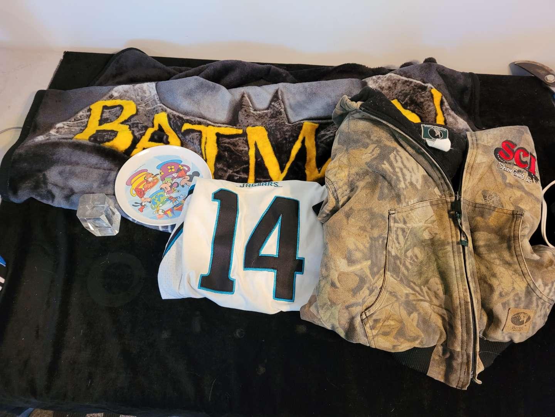 Lot # 487 Kids Batman Blanket, Heavy Jacket & Jersey