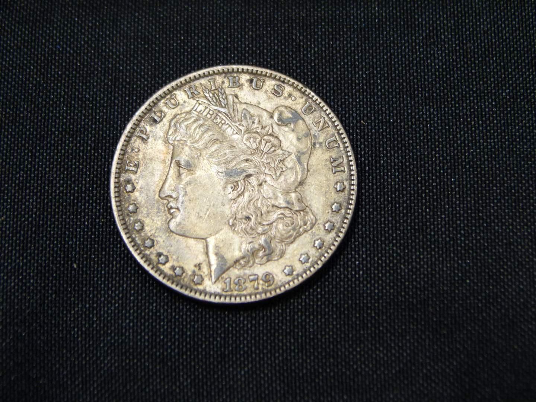 Lot # 7  1879 Silver Morgan Dollar  (main image)