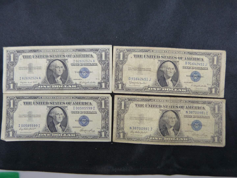 Lot # 14  3 $1.00 silver certificates