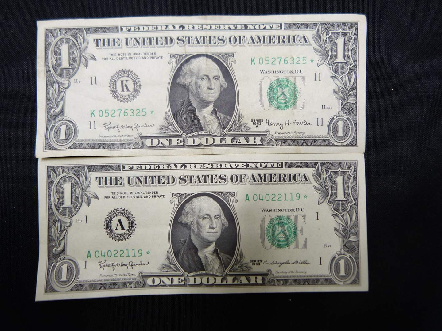 Lot # 15  2 1963 STAR NOTES