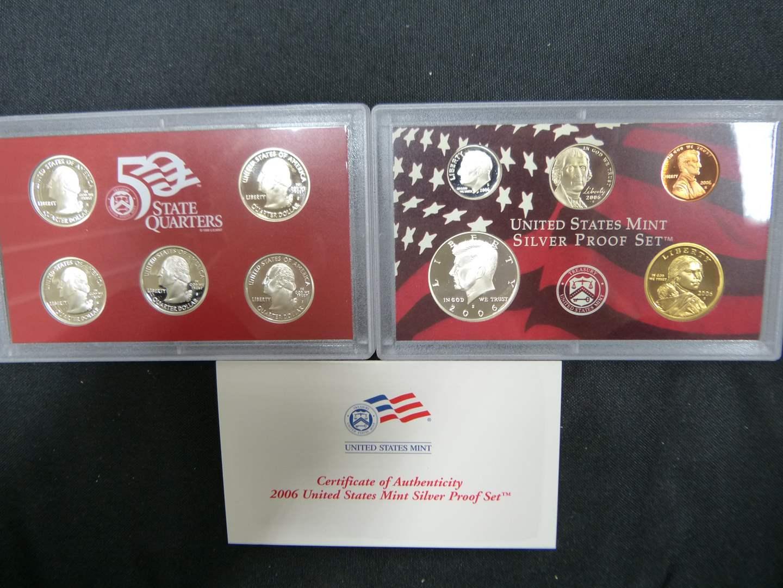 Lot # 17  2006 United States Mint Silver GEM Proof Set with Original Box & COA