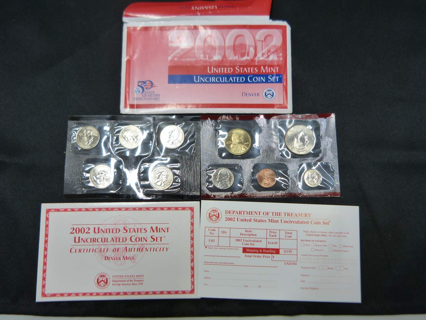 Lot # 20  2002 Uncirculated United States Mint Set w/ state quarters (main image)