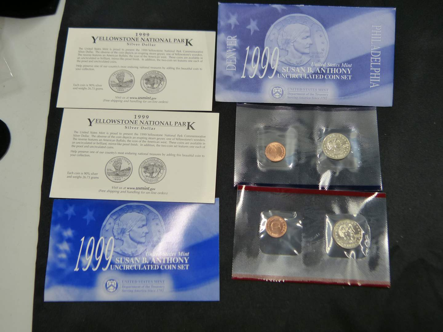 Lot # 22  1999 Susan B Anthony SILVER .90% SILVER Uncirculated set RARE