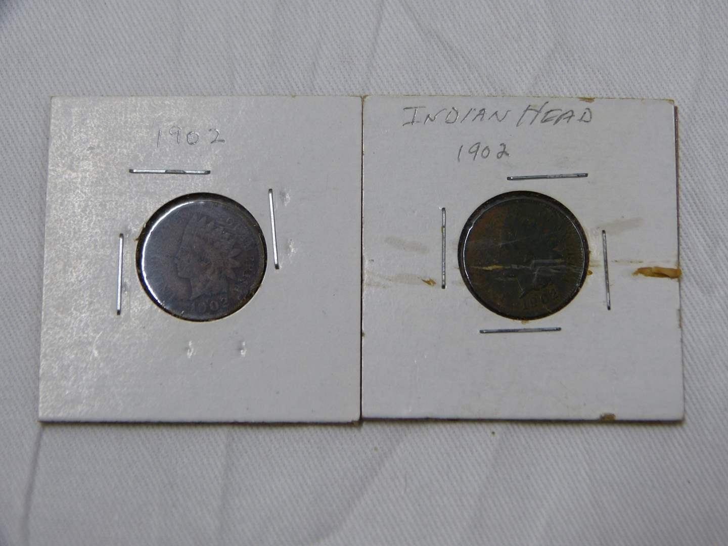 Lot # 31  2 Great Indian Head pennies