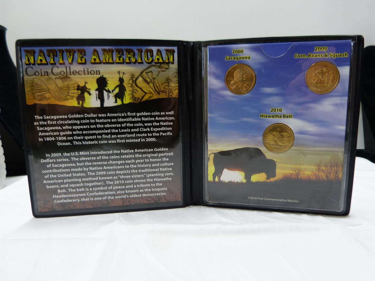Lot # 36  Sacagawea dollar collection in nice display case (main image)