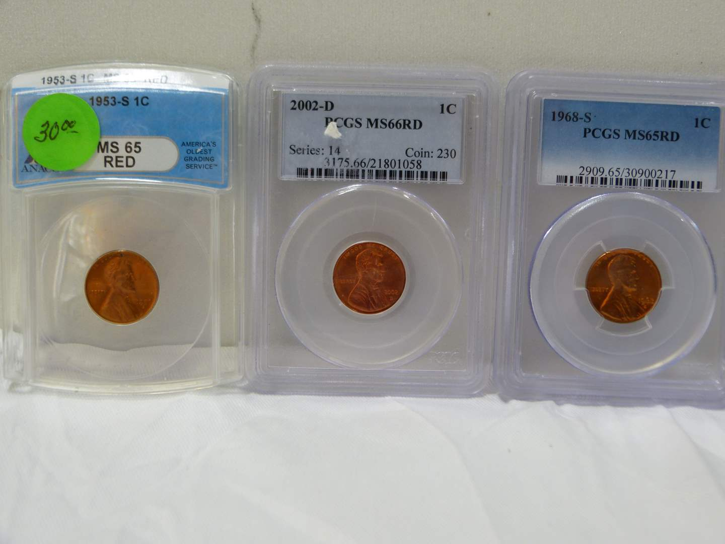 Lot # 45  Nice lot of graded slabbed coins (main image)