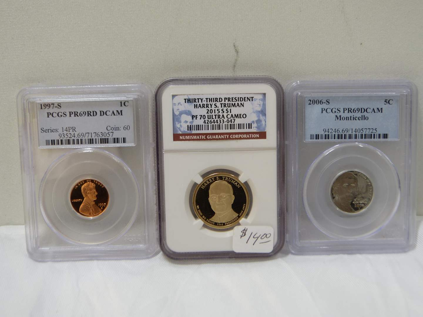 Lot # 47  Nice lot of graded slabbed coins (main image)