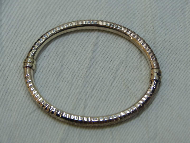 Lot # 58  Designer sterling 925 bracelet with magnetic closure  (main image)