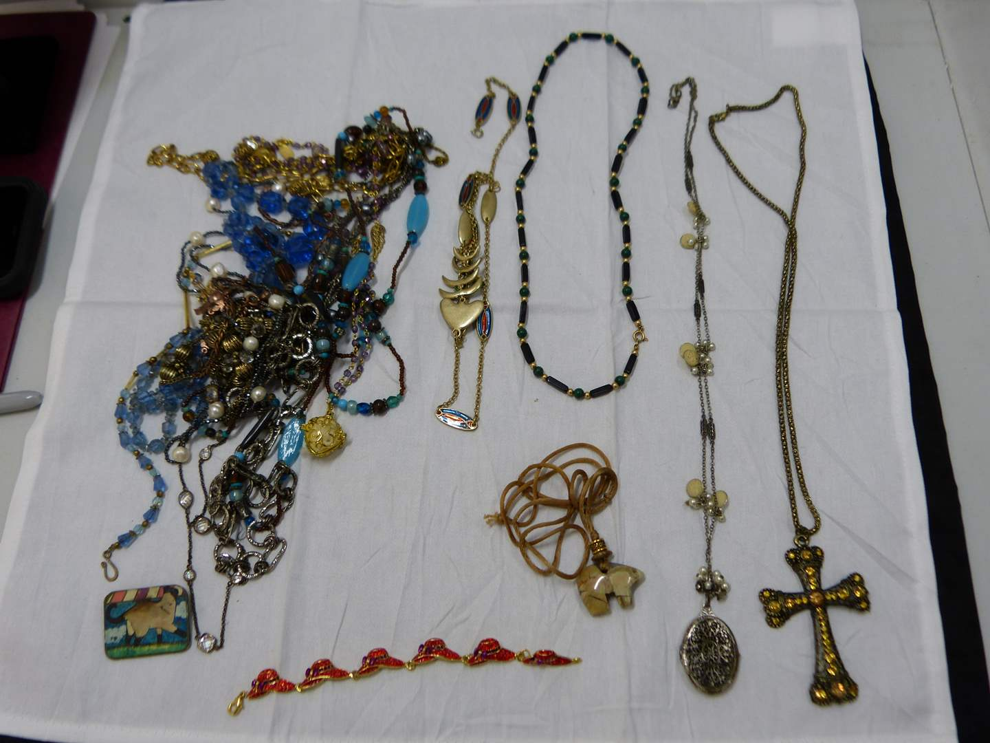 Lot # 63  Great lot of costume jewelry (check pictures closely-some nice items here)