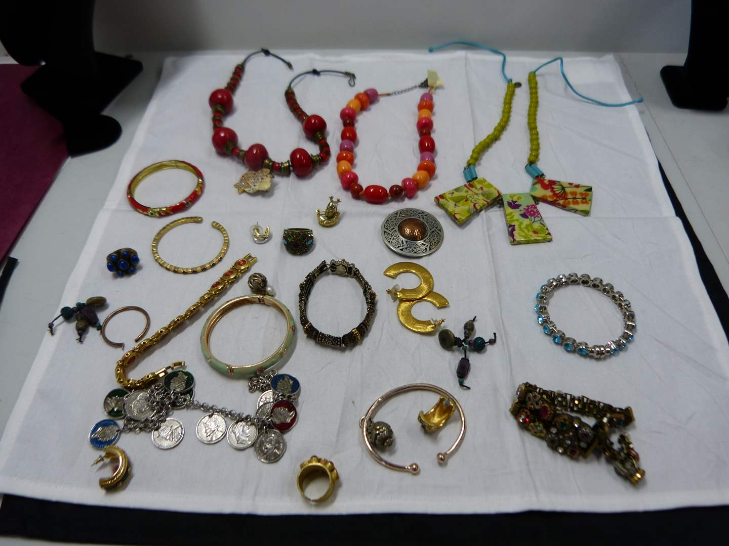 Lot # 79  Vintage lot of costume jewelry (check the pictures closely there are some nice things here) (main image)