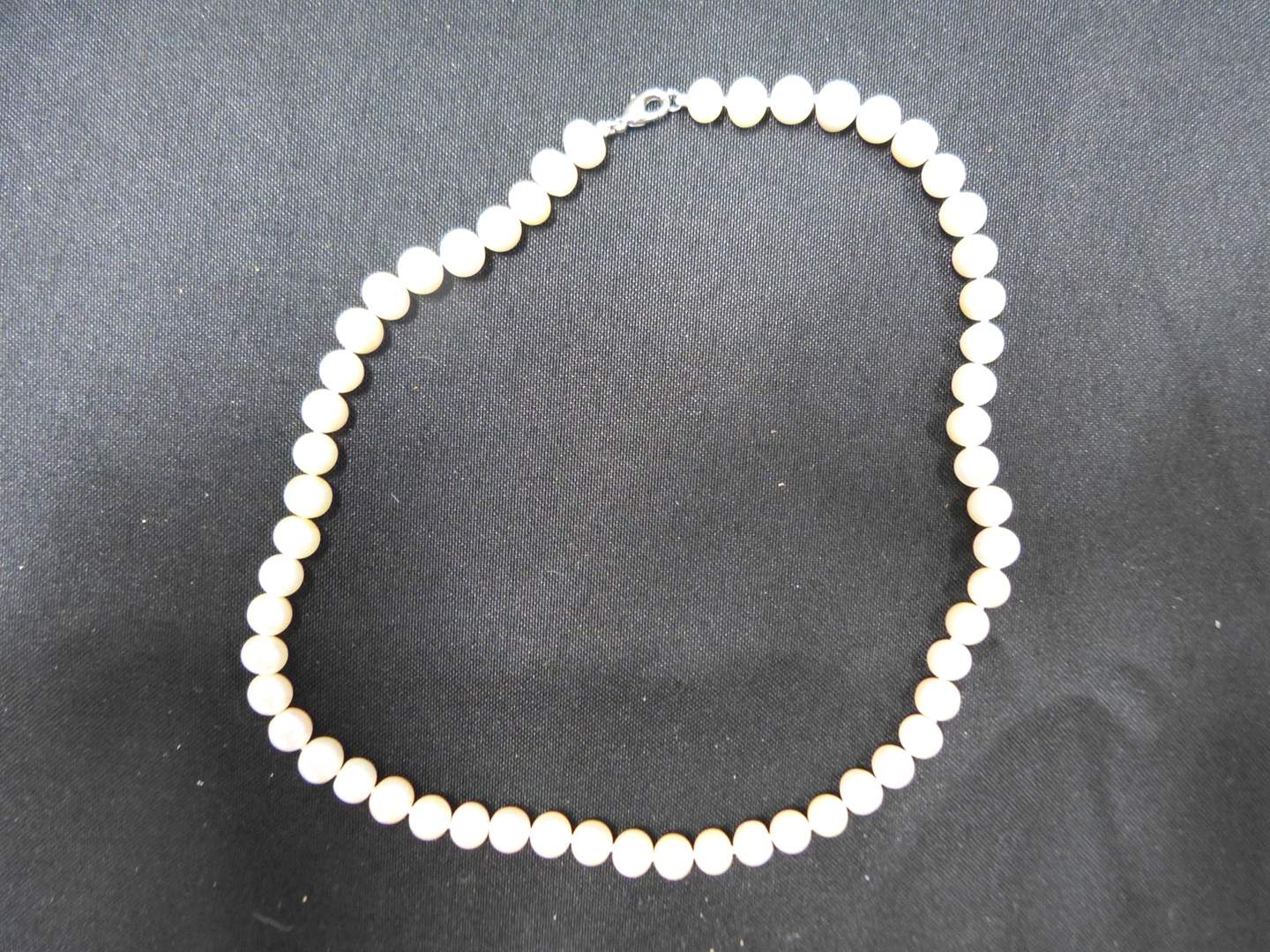 "Lot # 84  Like new 18"" strand of pearls (main image)"