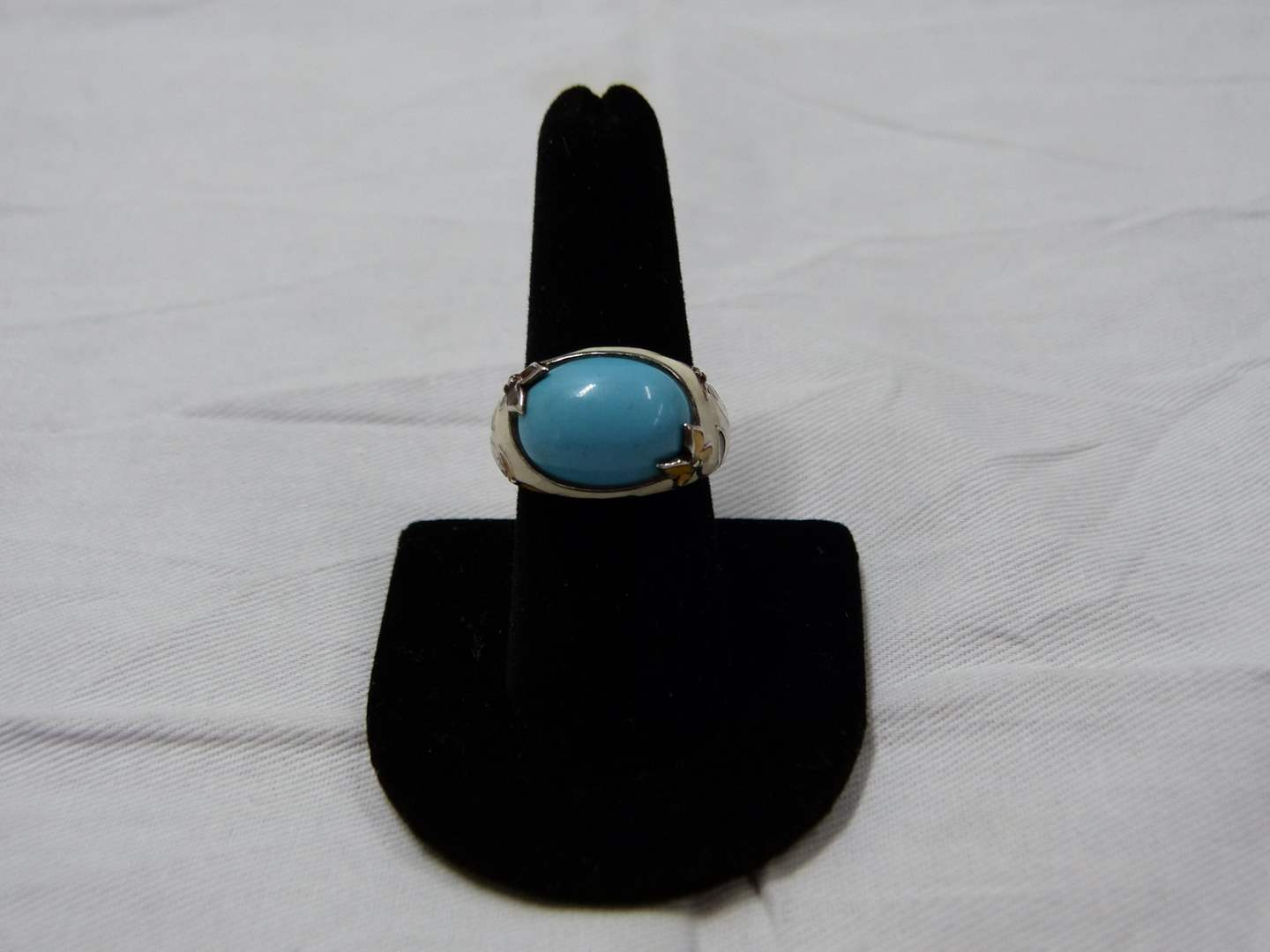 Lot # 87  Interesting made in Canada sterling silver ring size 8