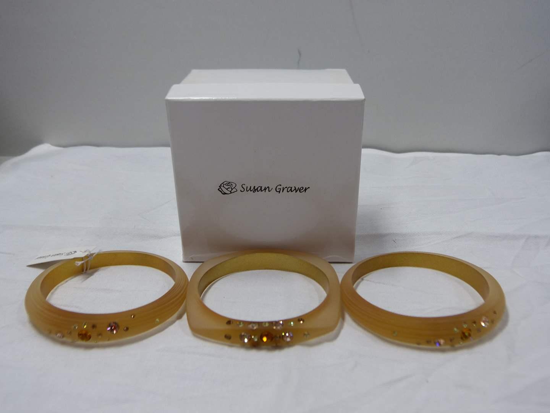 Lot # 93  Designer Susan Graver 3 NEW never worn bracelets