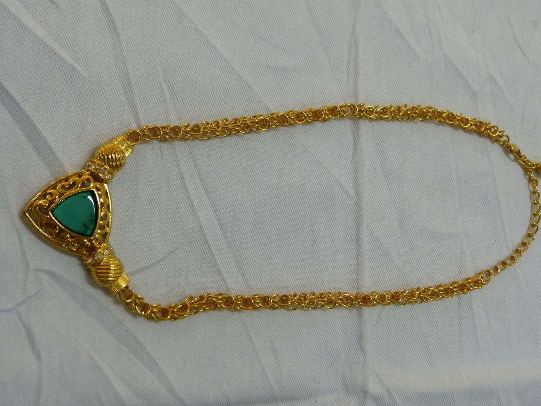 "Lot # 133  Jacqueline Kennedy (authentic) beautiful 20"" necklace  (main image)"