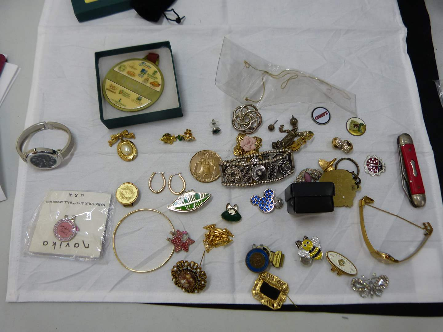 Lot # 147  Nice lot of costume jewelry (look closely at the pictures there are some nice pieces here) (main image)