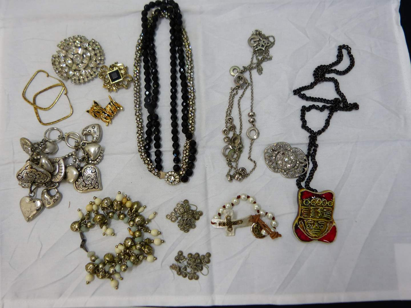 Lot # 148  Nice lot of costume jewelry (look closely at the pictures there are some nice pieces here) (main image)