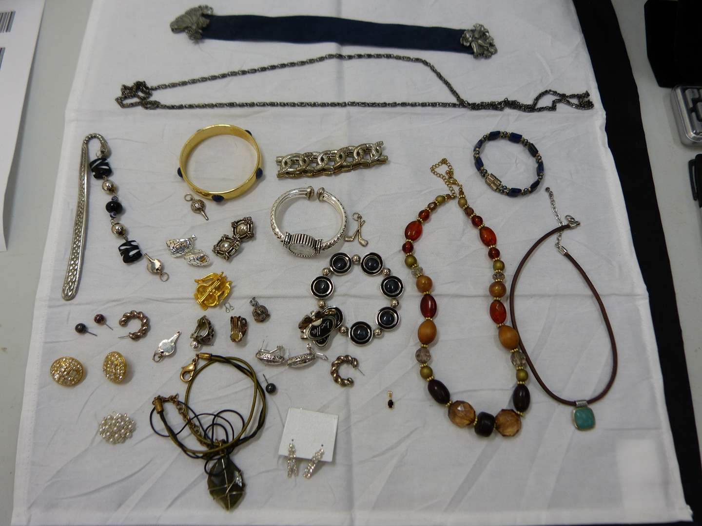 Lot # 150  Nice lot of costume jewelry (look closely at the pictures there are some nice pieces here) (main image)