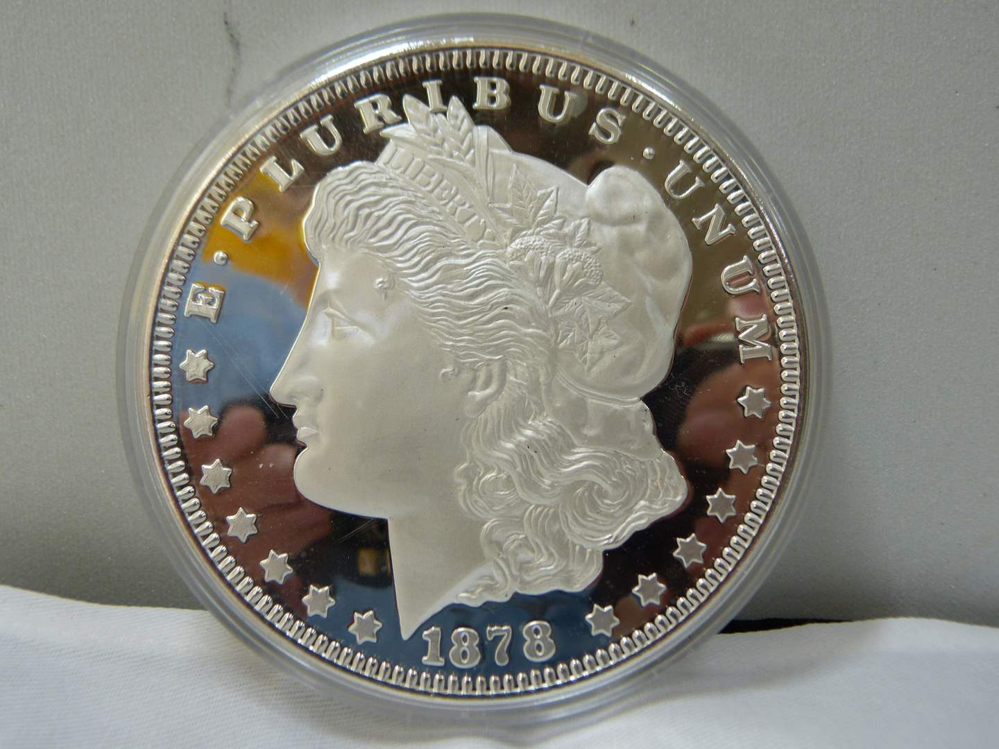 Lot # 151  WOW Limited Edition #00309 1/2 POUND PURE SILVER Morgan (YES HALF POUND) (main image)