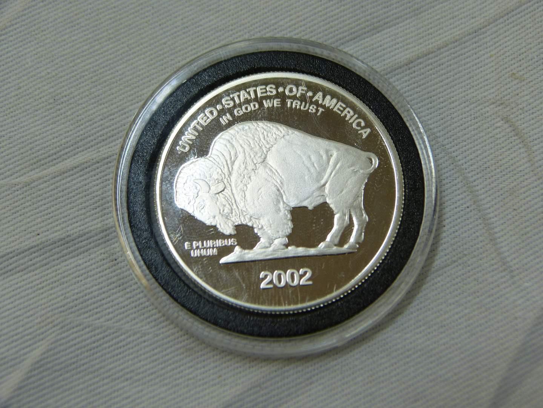 Lot # 154  2002 Buffalo Indian Head .999 one ounce silver bullion