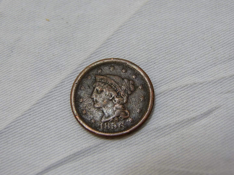 Lot # 157  1856 US Large cent
