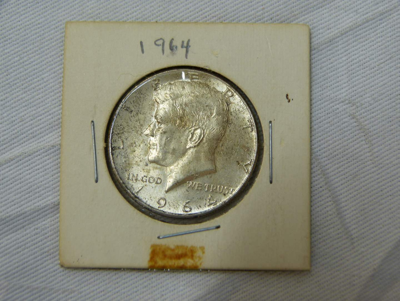 Lot # 167  1964 Kennedy 90% silver half dollar