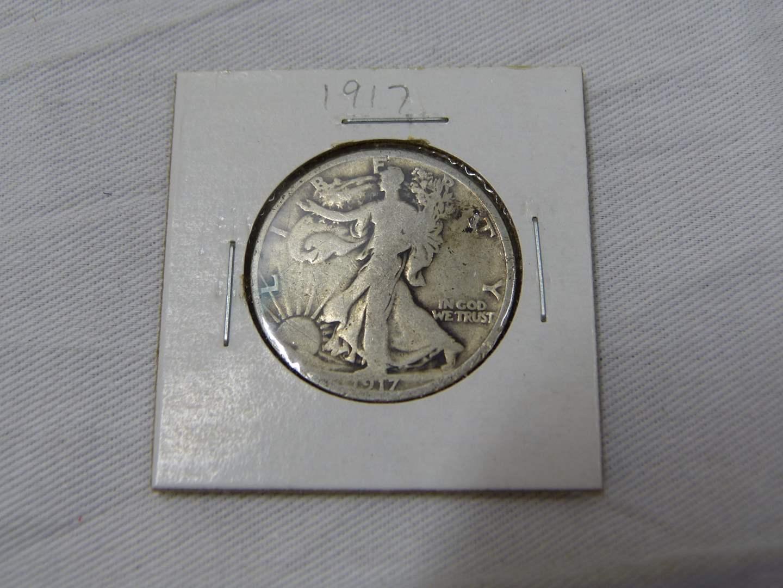 Lot # 175  1917 Standing Liberty silver half dollar