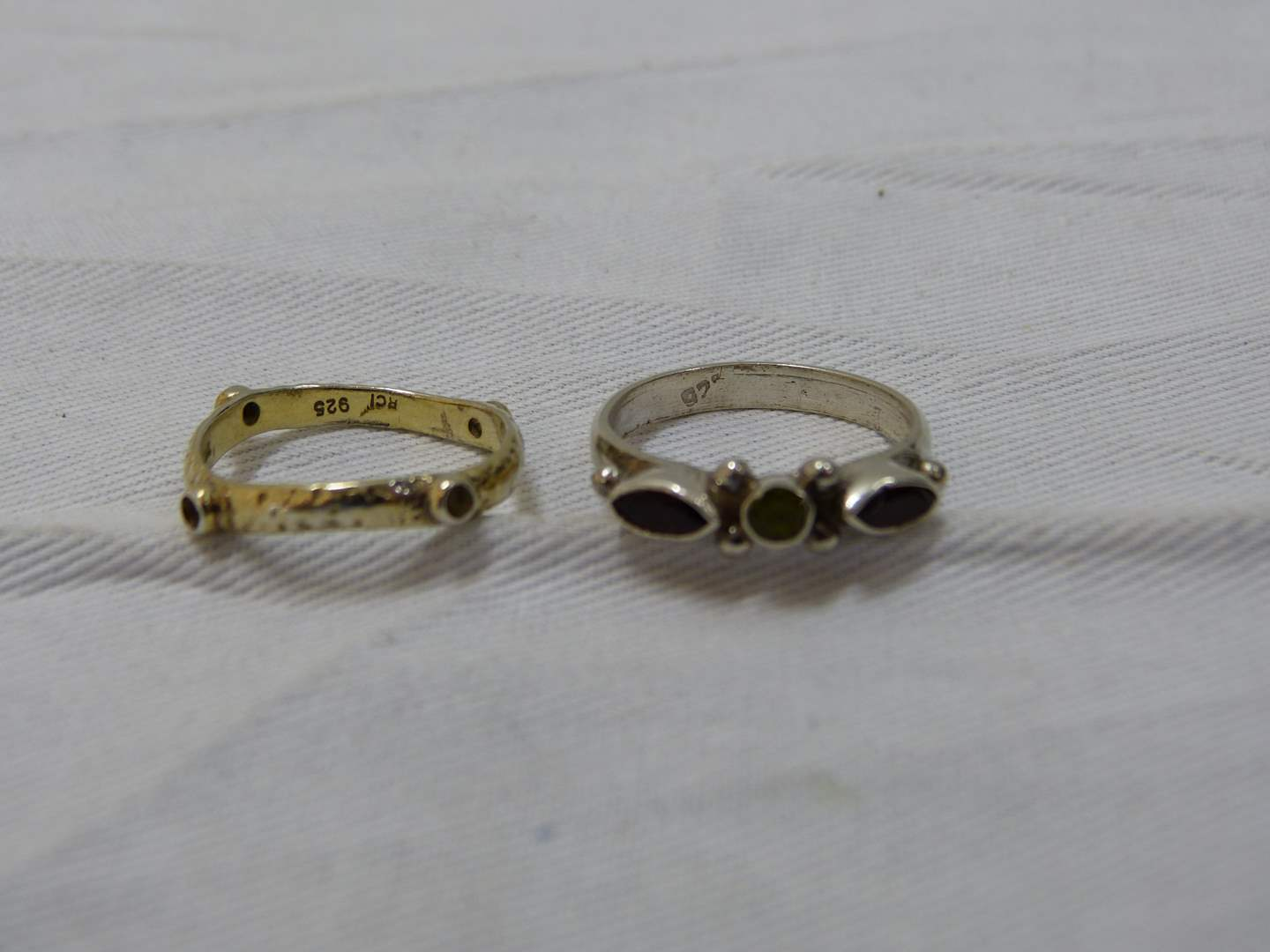 Lot # 177  2 Sterling silver rings both size 8