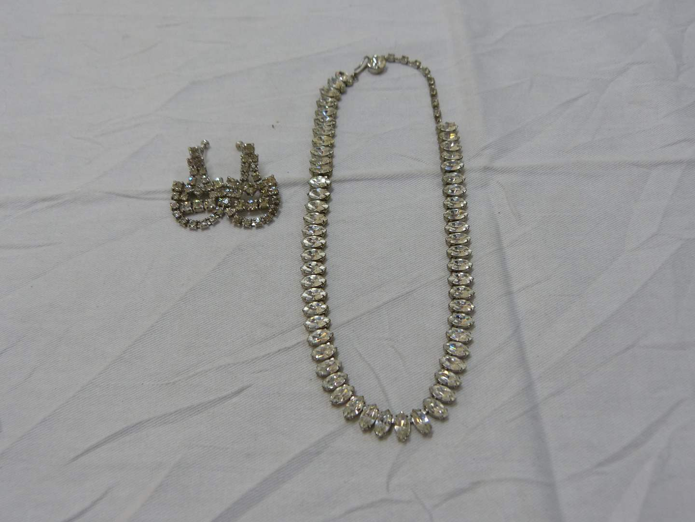 Lot # 190  Designer vintage lot of rhinestone jewelry