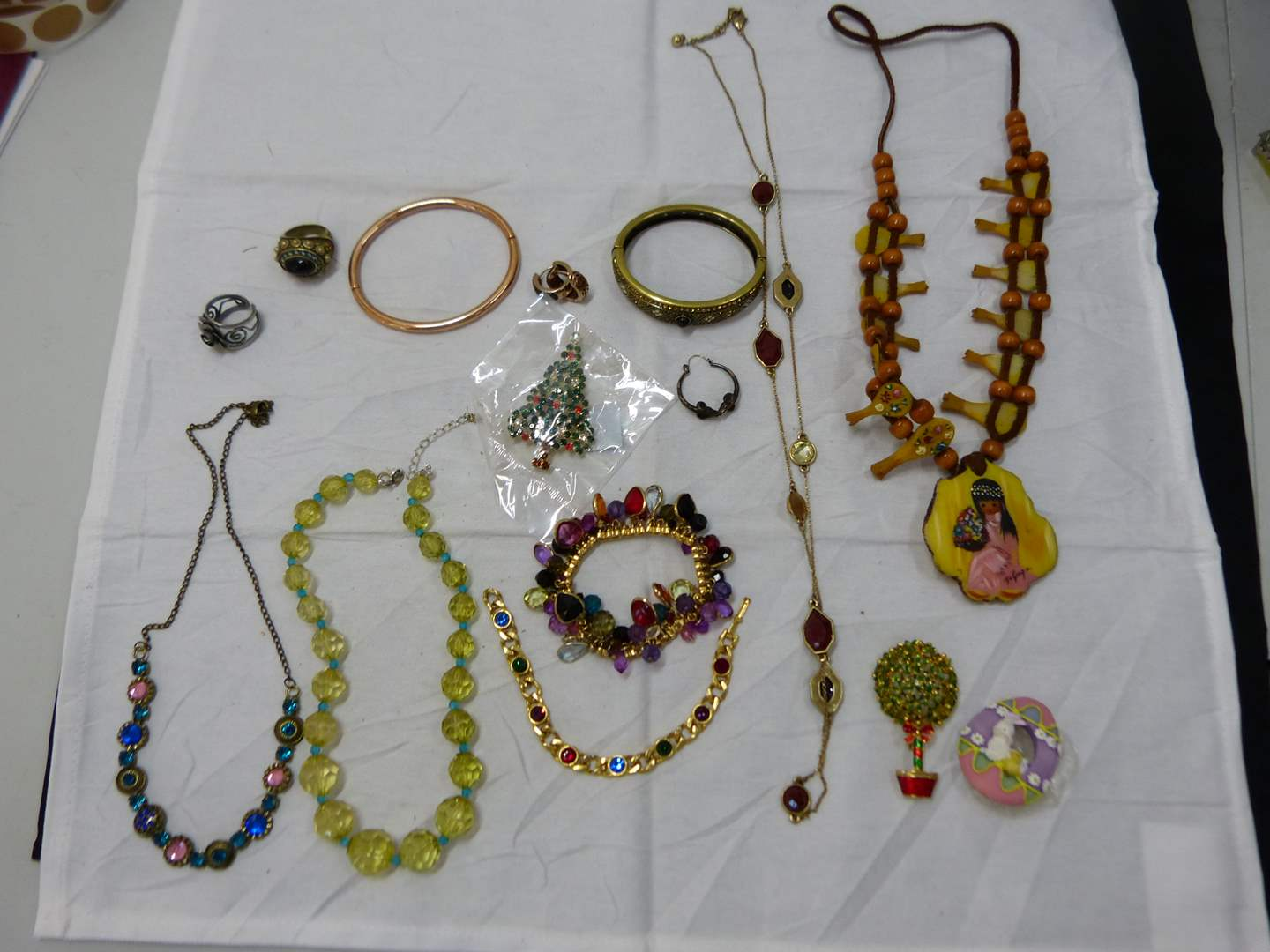 Lot # 193  Large lot of costume jewelry (look closely at the pictures there are some nice things here) (main image)
