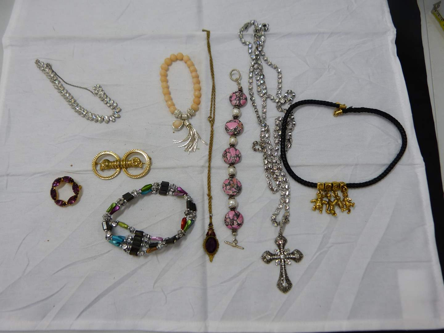 Lot # 194  Large lot of costume jewelry (look closely at the pictures there are some nice things here) (main image)