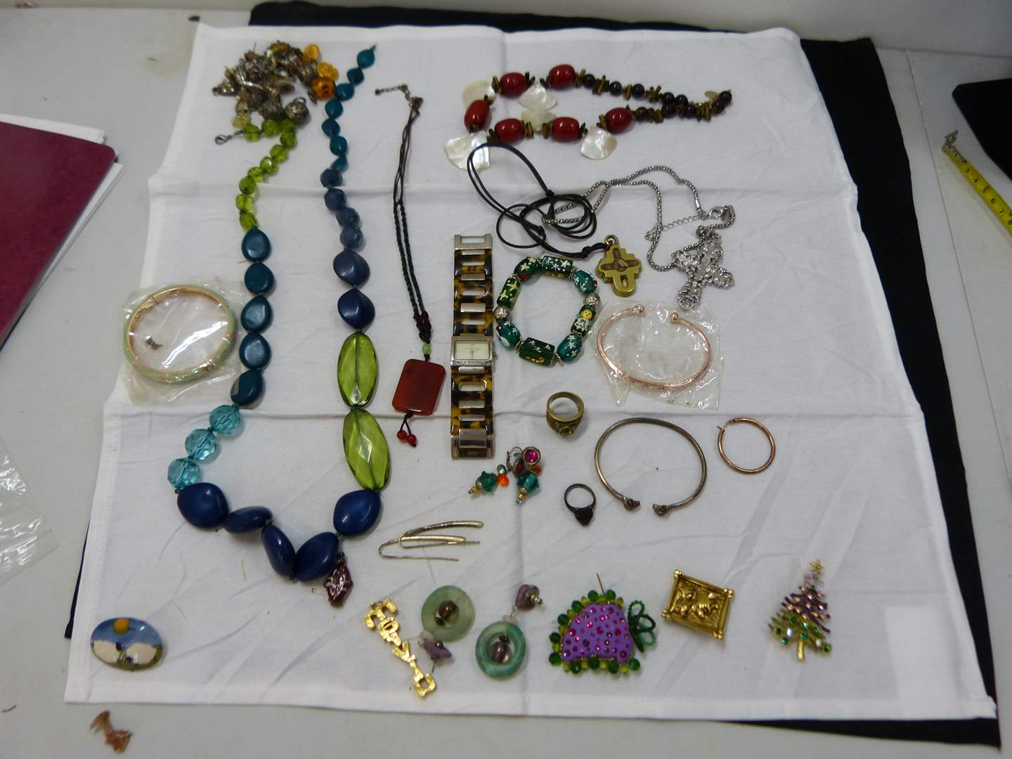 Lot # 195  Large lot of costume jewelry (look closely at the pictures there are some nice things here) (main image)